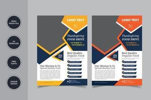 modelo de panfleto de campanha de alimentos vetor