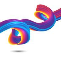 Fluxo abstrato arco-íris vetor