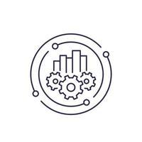 análise de negócios, ícone de linha vetor