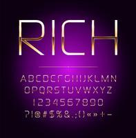Letras de vetor de efeito ouro de alta qualidade. Ilustração vetorial