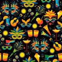 Carnaval brasileiro. Padrão sem emenda de vetor. vetor
