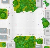 vista de cima da cidade. mapa da cidade de fundo vetor