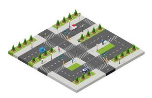 parque isométrico pessoas infraestrutura urbana vetor