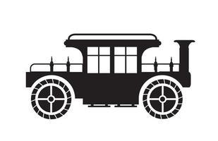 silhueta de carro antigo retro vetor