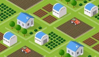 ilustração vetorial de natureza rural sem costura vetor