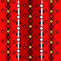Sem costura étnica padrão vertical, linhas em zigue-zague e pontos vetor