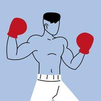 boxe, treinamento esportivo, boxeador se prepara para a competição vetor