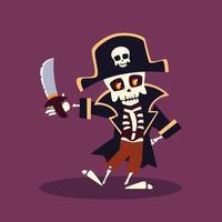 personagem esqueleto para feliz dia das bruxas vetor