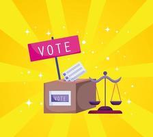 votar urna vetor