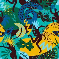 Carnaval do Brasil. Padrão sem emenda de vetor com elementos abstratos na moda