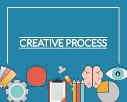 cartão de processo criativo vetor