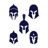vetor de capacete espartano