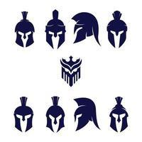 vetor capacete guerreiro