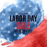 feliz fundo de cartaz de venda do dia do trabalho dos EUA. ilustração vetorial vetor
