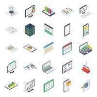 elementos de relatório de negócios vetor