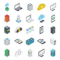 pacote de elementos de banco de dados vetor