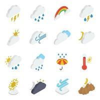 elementos de tempo nublado vetor