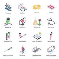 elementos de ferramentas médicas vetor