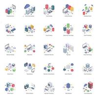 elementos de hospedagem de banco de dados vetor