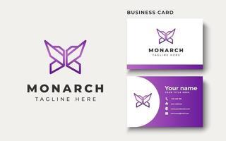 inspiração de design de logotipo de borboleta, ilustração vetorial vetor