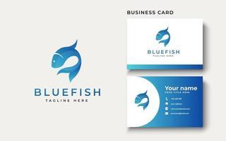 inspiração de design de logotipo de peixe azul, ilustração vetorial vetor