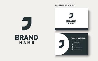 inspiração de design de logotipo j inicial, ilustração vetorial vetor
