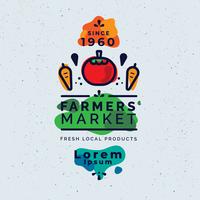 Agricultor panfleto de mercado Vector