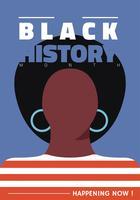 Design de vetor de mês de história negra