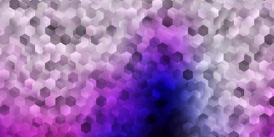 fundo vector rosa claro roxo com formas hexagonais.