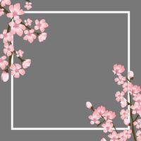 ilustração em vetor abstrato floral sakura flor japonesa fundo natural