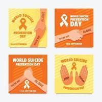 publicação nas redes sociais do dia mundial da prevenção do suicídio vetor