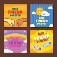 conceito de cartão de amizade vetor
