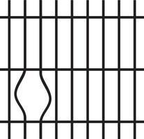 barras de prisão quebradas vetor