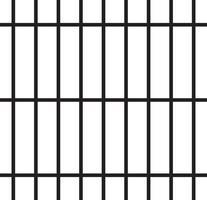 segurança barras de prisão vetor