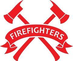 corpo de bombeiros ou símbolo de bombeiros vetor
