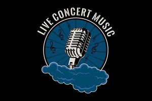 design tipográfico de música para concerto ao vivo vetor