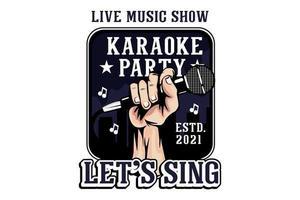 show de música ao vivo karaoke festa ilustração design vetor