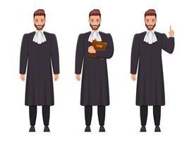 juiz homem ilustração de desenho vetorial isolada no fundo branco vetor