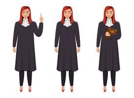 ilustração do projeto do vetor da mulher do juiz isolada no fundo branco