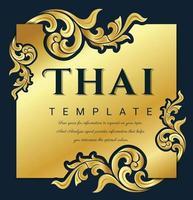 moldura decorativa de arte tradicional tailandesa para convites, molduras, menus, etiquetas e sites. elemento de vetor elegante estilo oriental