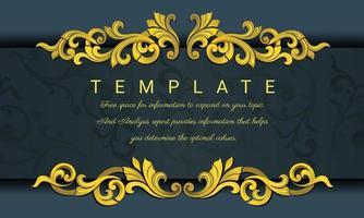 moldura vintage decorativa para convites, molduras, menus, etiquetas e sites. vetor