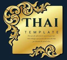 moldura vintage decorativa para convites, molduras, menus, etiquetas e sites. elemento de vetor elegante estilo oriental, lugar para texto.