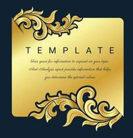 moldura decorativa de arte tradicional tailandesa para convites, molduras, menus, etiquetas e sites. vetor