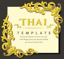 vetor vintage, conceito tradicional tailandês. elementos florais para design de convites, quadros, menus, rótulos e sites.