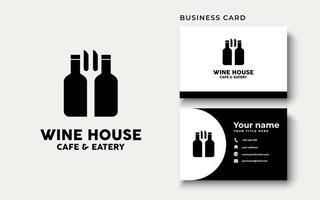 inspiração para o design do logotipo da wine house vetor