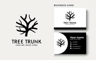 inspiração para o design do logotipo do tronco da árvore vetor