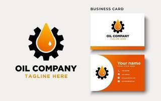 inspiração de design de logotipo de petróleo e gás, ilustração vetorial vetor