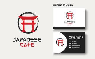 inspiração de design de logotipo de portão japonês, ilustração vetorial vetor