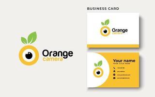 inspiração para o design do logotipo da câmera laranja vetor