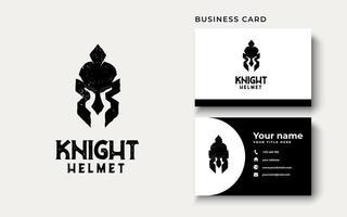 Inspiração para o design do logotipo do capacete de cavaleiro vetor